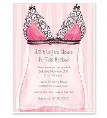 american wedding lingerie shower invitation