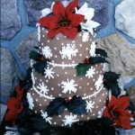 Gorgeous Snowflake Christmas Cake from Cake Creations