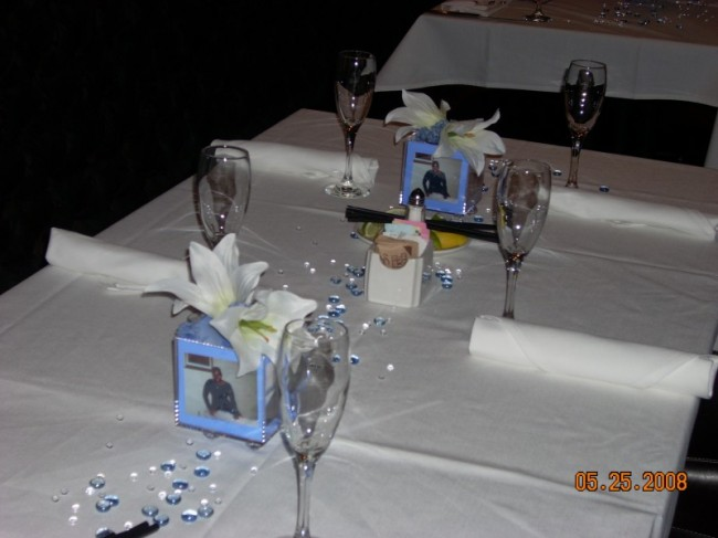 Photo Cube Wedding Flowers