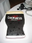 Tip Back a Guiness Grooms Cake