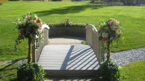 Wooden Bridge & Wedding Flowers