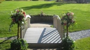 Wooden Bridge & Wedding Flowers