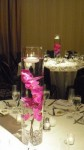 Floating Orchids Wedding Reception Centerpiece