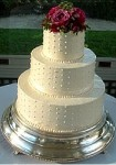 Wedding Cake With Pearl Icing