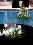 Poolside Wreath Reception Centerpiece