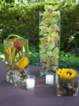 Ricker Rocks & Orchids Tall Centerpiece
