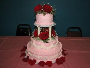 Tasty Pink Wedding Cake