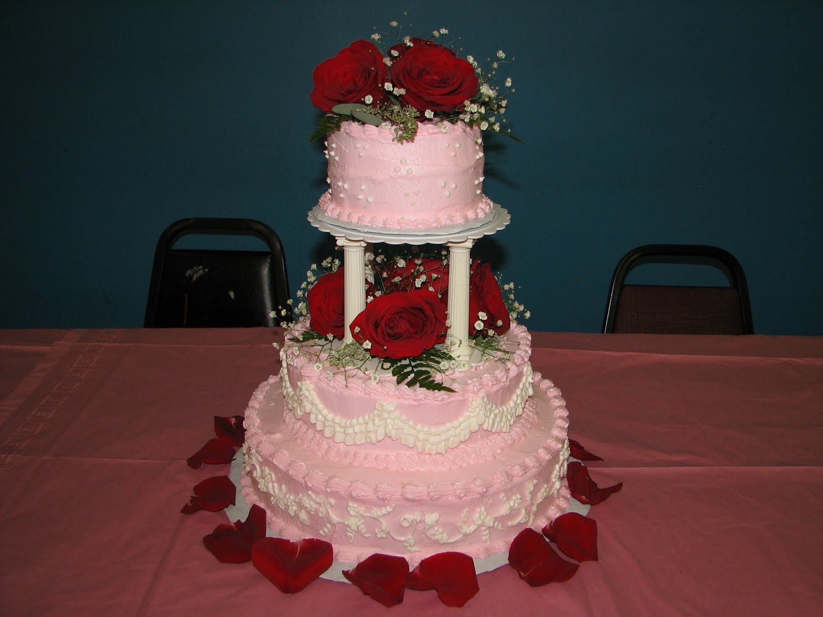Tasty Pink Wedding Cake