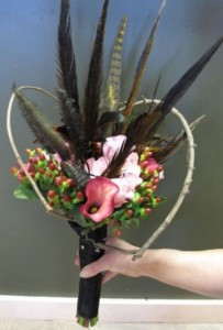 Pheasant Feather Bridal Bouquet