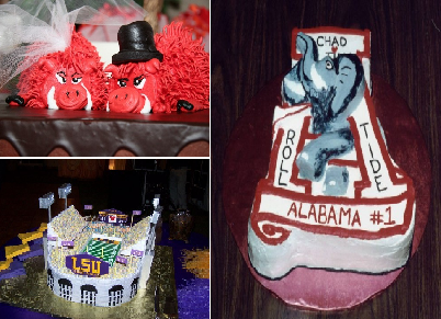 College Football Themed Cakes