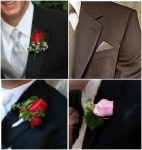 Wedding Boutonnieres & Pocket Square