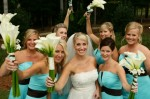 Happy Bridal Party With Their Gourgeous Bouquets