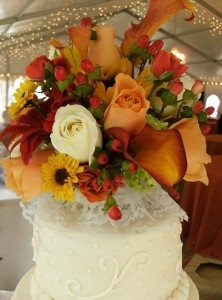 Beautiful Floral Cake Topper