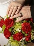 Red & Green Wedding Flowers