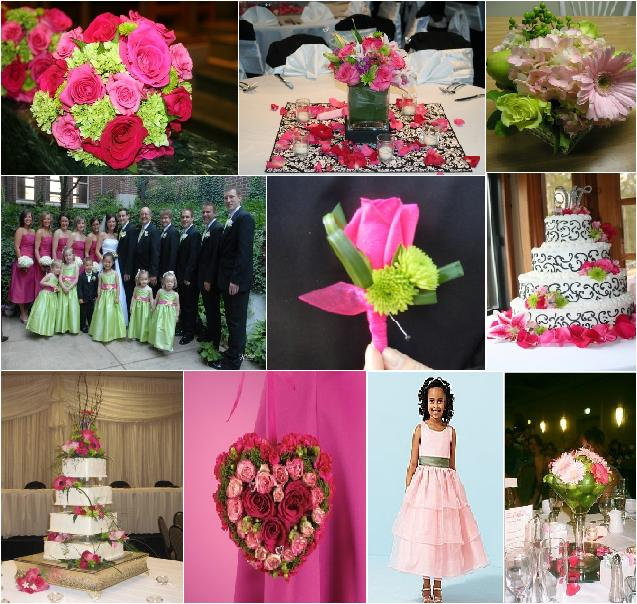 So what is a great spring and summer wedding color combination