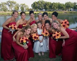 Beautiful Bride & Bridesmaids