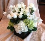 Calla Lilies & Hydrangea Centerpiece