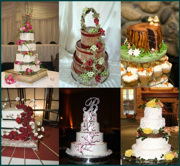 Nature inspired wedding cakes are great for outdoor weddings