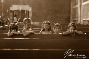 Little angels... waiting for their moment to shine