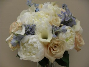 Ivory & Purple Bridal Bouquet