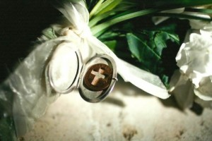 Locket On Wedding Bouquet