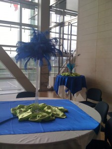 Feather Reception Centerpiece