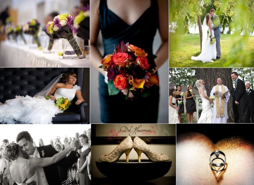Unique wedding party photography