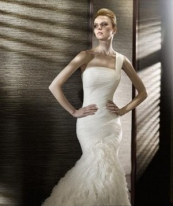 Gorgeous One Shoulder Wedding Dress