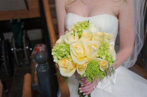 Green & Ivory Wedding Bouquet