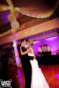 Bride & Groom First Dance Under Beautiful Lighting