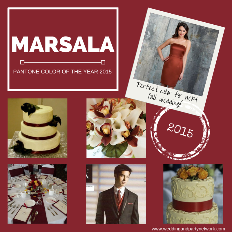 Wedding trends tagged with wedding colors celebration advisor color of the year 2015 marsala junglespirit Gallery