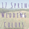 2017 Spring Wedding Colors