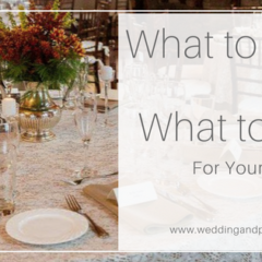 What to Rent VS. What to Buy for Your Wedding