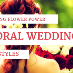 Wedding Flower Power: Floral Wedding Hairstyles