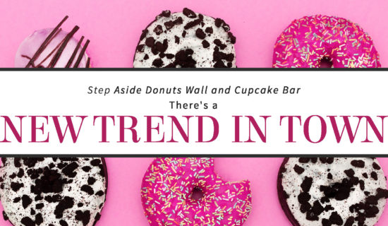 Step Aside Donuts Wall and Cupcake Bar: There's a NEW TREND IN TOWN!
