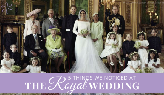 5 Things We Noticed At The Royal Wedding