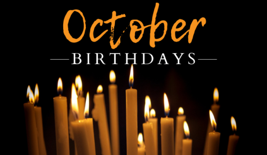 October Birthdays 2018
