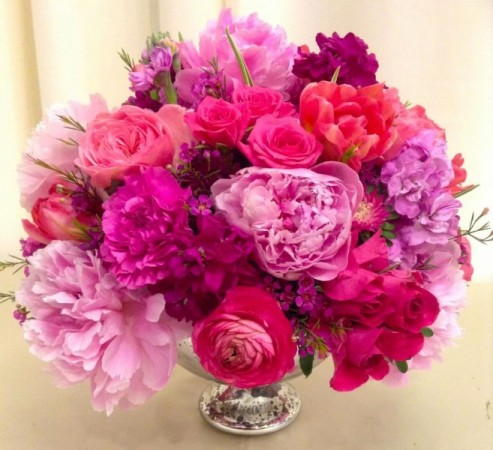 Pink and Purple Centerpiece