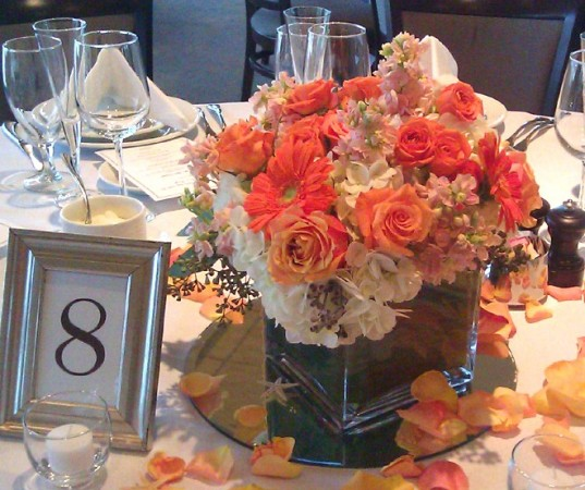 Peaches and Cream Centerpiece