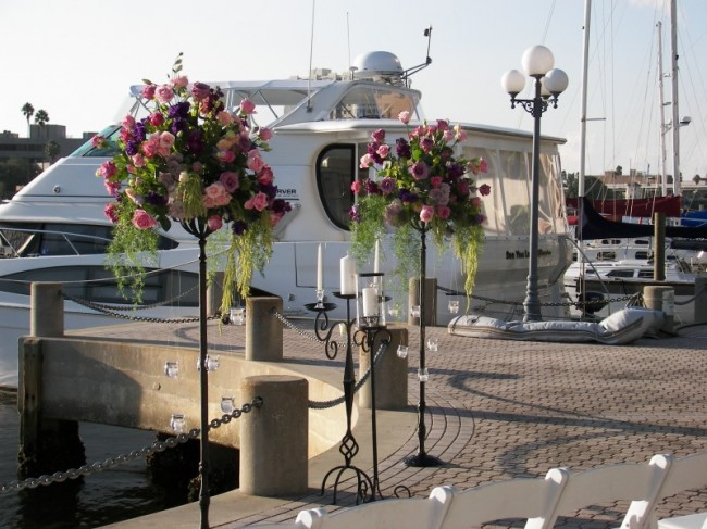 Altar Flowers for Harbor Wedding personal