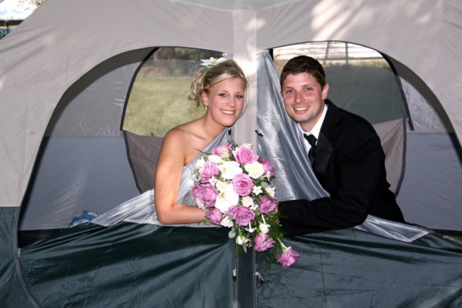 A Camper's Dream Wedding Photo