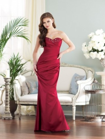 Strapless satin slim