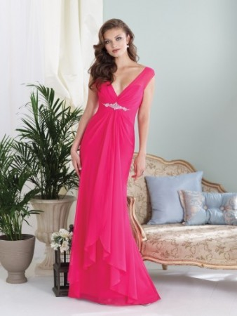 Sleeveless chiffon slim