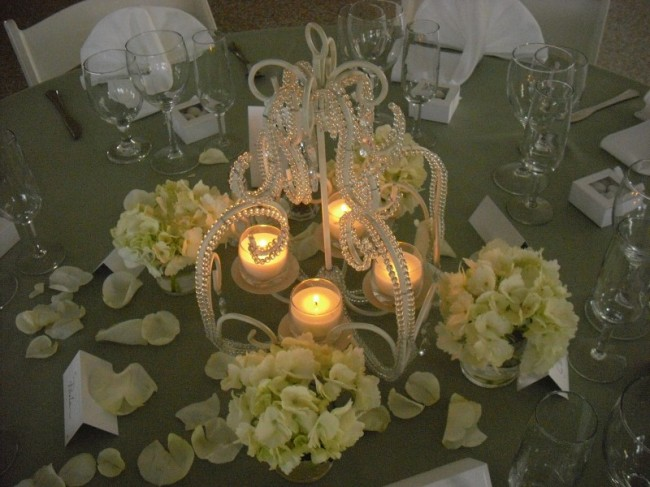 Chrystal Chandelier & Reception Flowers personal