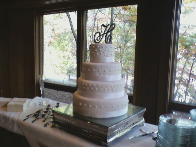 June Monogram Wedding Cake