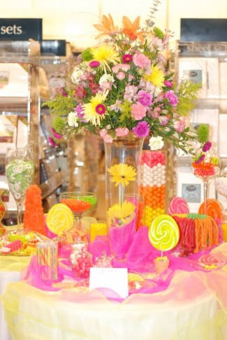 A candy buffet is the hottest new trend in weddings