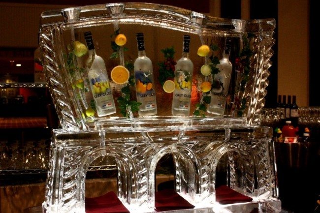 Awesome Grey Goose Martini Luge