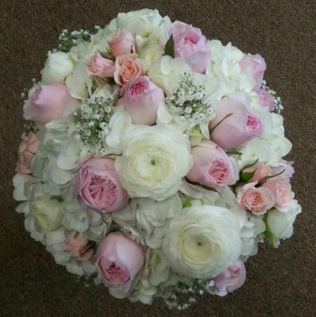 Pink & Ivory Wedding Bouquet