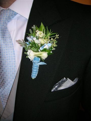 Blue & White Boutonnierre