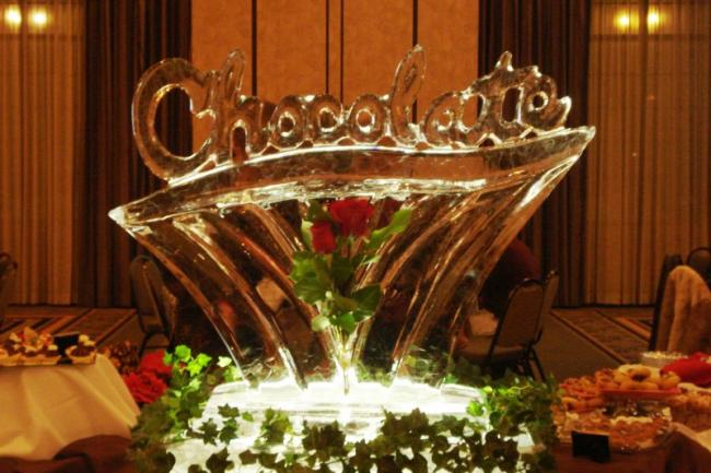 Chocolate and Roses Ice Sculpture